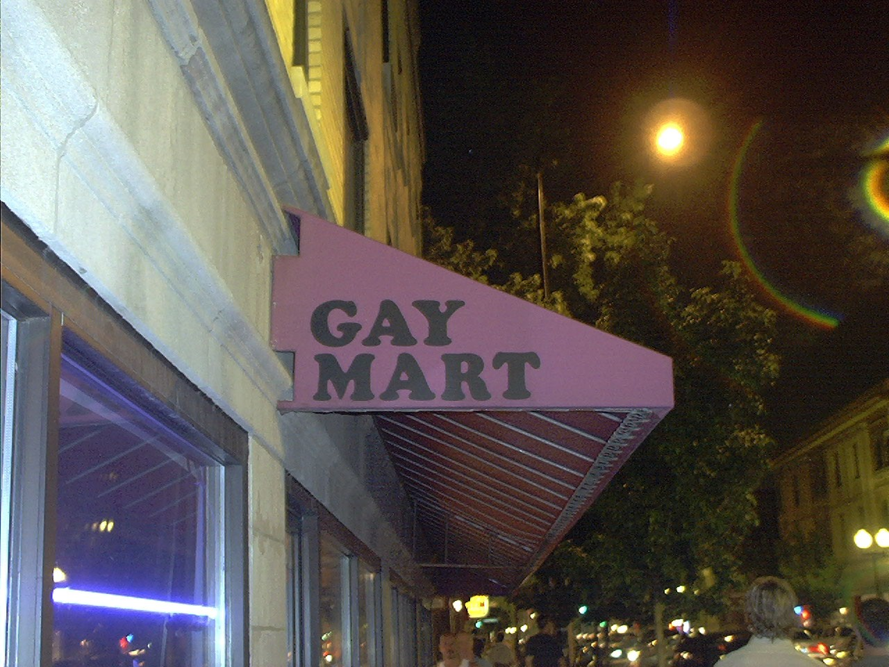 Among the businesses we encountered were Gay Mart, ...