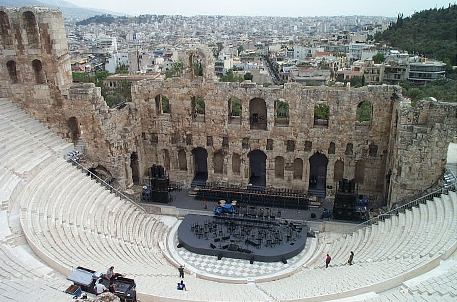 drawing images of theater of dionysus